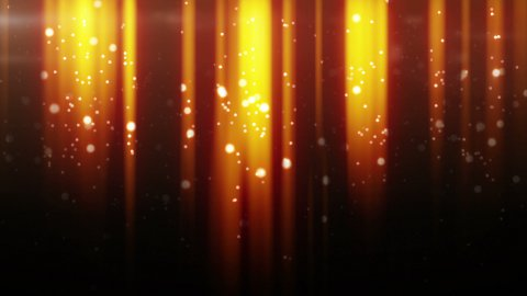 gold particles flying in light beams loop  - stock footage