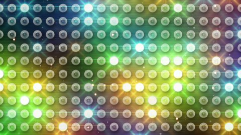 multicolor lighting bulbs loop