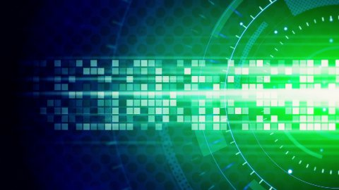 green blue technology loop background  - stock footage