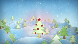 cardboard christmas forest intro last 10s are loopable  - motion graphic