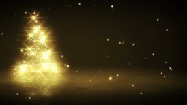 shiny yellow christmas tree shape loop - motion graphic