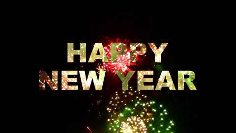 Happy New Year fireworks 02 - stock footage