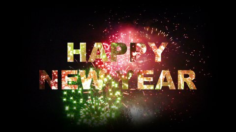 Happy New Year fireworks 03 - stock footage
