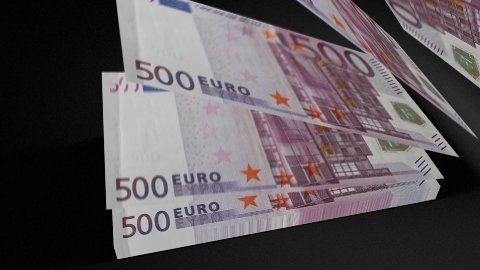 500 euros bills count 01 - stock footage