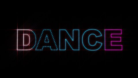 Dance LEDS 01 - stock footage