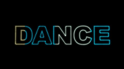 Dance LEDS 02 - stock footage