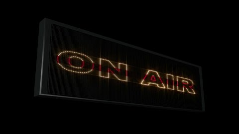 On Air LEDS 03 - stock footage
