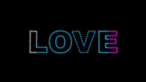 Love LEDS 02 - stock footage