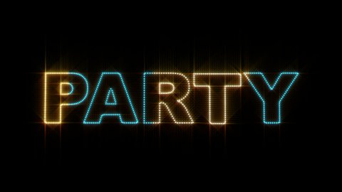 Party LEDS 01 - stock footage