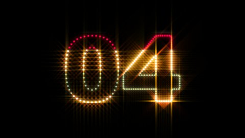 LEDS Countdown 01 - stock footage