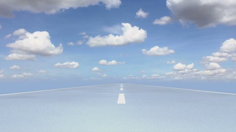 Road Cloudscape 01 - stock footage