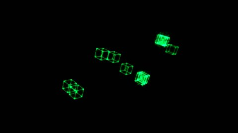 Cloning Cubes - stock footage