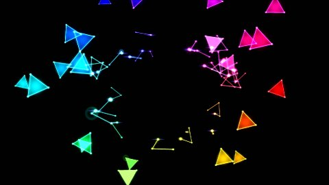 Colorful Triangles - stock footage