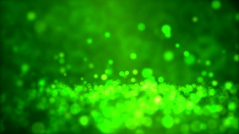 Particle Background - Loop Green - stock footage