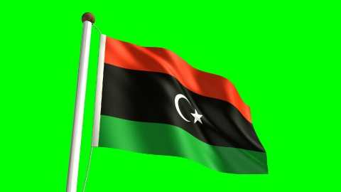Libya flag - stock footage