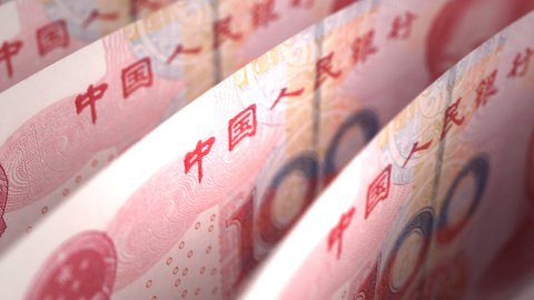 Yuan Close-up - stock footage