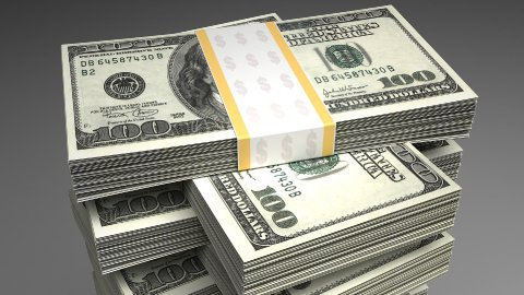 Stack of Dollar - stock footage