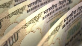 Indian Rupee Close-up - motion graphic