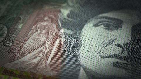 Australian Dollar Close-up - stock footage