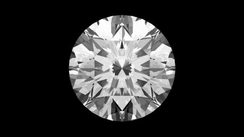 Round Cut Diamond - stock footage