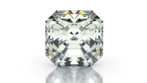 Asscher Cut Diamond - stock footage