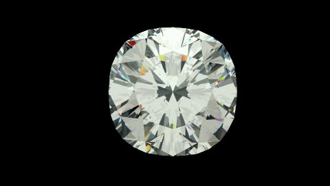 Cushion cut diamond - stock footage
