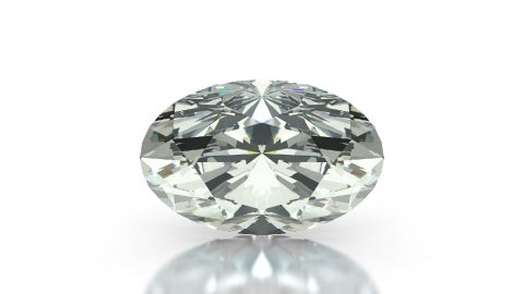 Oval Cut Diamond - stock footage