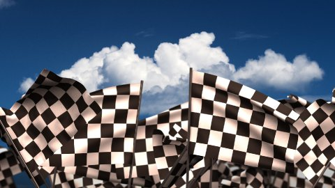 Waving Chequered Flags - stock footage