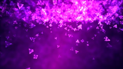 Abstract Triangle Background Animation - Loop Purple - stock footage