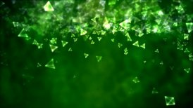 Abstract Triangle Background Animation - Loop Green - motion graphic