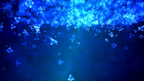 Abstract Triangle Background Animation - Loop Blue - stock footage