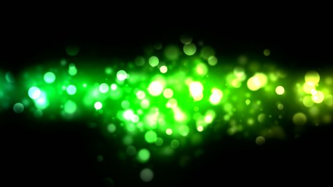 Abstract Particle Background - Loop Green - stock footage
