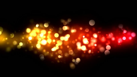 Abstract Particle Background - Loop Orange - stock footage