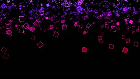 Abstract Falling Squares Background Animation - Loop - stock footage