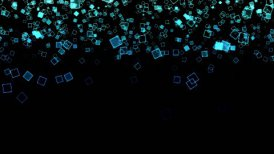 Abstract Falling Squares Background Animation - Loop - motion graphic