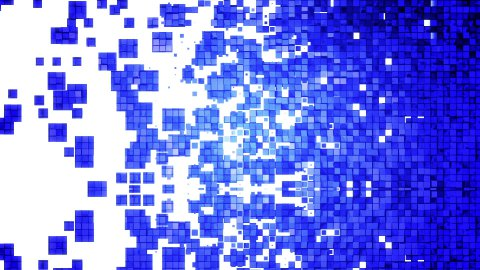 Blue square blocks background animation. - stock footage