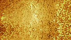 Golden square blocks background animation. Seamless loop.