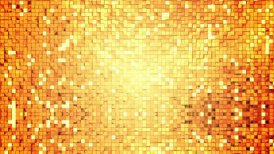 Golden square blocks background animation - motion graphic