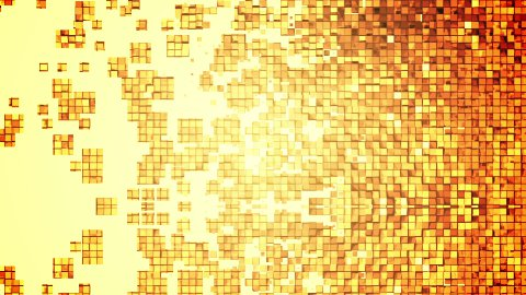 Golden square blocks background animation. - stock footage