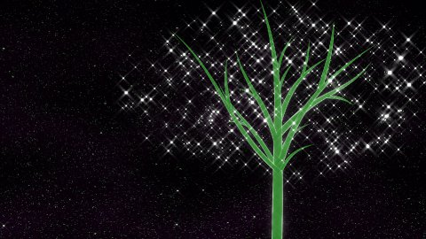 Energy tree growing. - stock footage