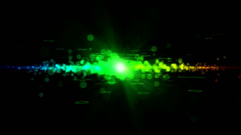 Abstract Particle Light Animation - Loop - stock footage