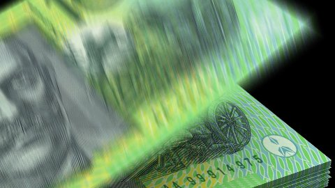 Counting Australian Dollar - stock footage
