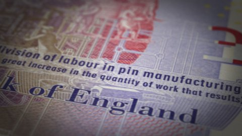English Pound Close up - stock footage
