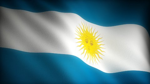 Flag of Argentina - stock footage