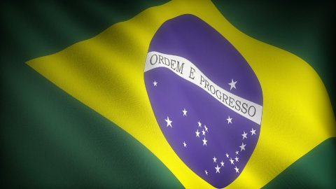 Flag of Brazil - stock footage