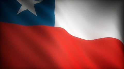 Flag of Chile - stock footage