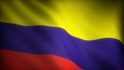 Flag of Colombia - stock footage