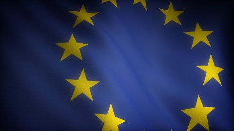 Flag of European Community - stock footage