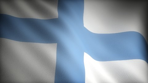 Flag of Finland - stock footage
