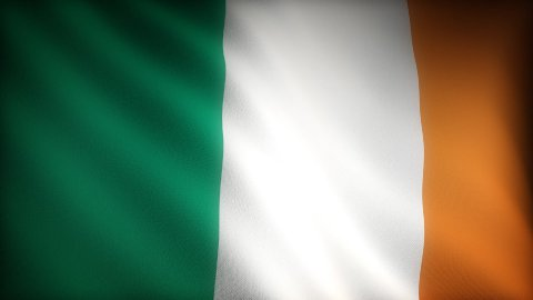 Flag of Ireland - stock footage